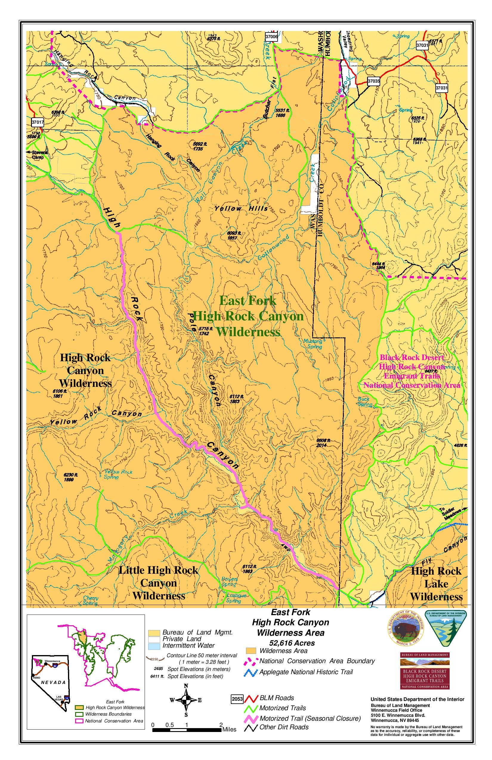 Maps Friends Of Black Rock High Rock - Us canyons boundary map