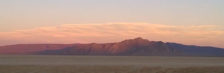 playa view at sunset