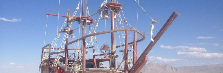 ship on the playa