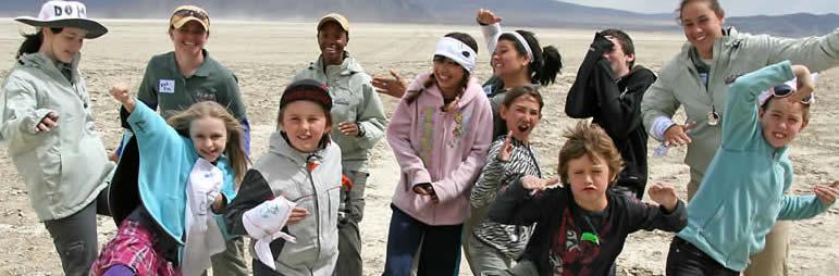 kids playing on playa